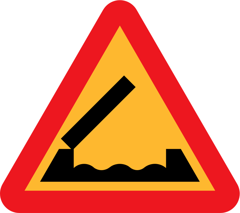Retractable bridge roadsign by ryanlerch - A sign depicting a liftabe bridge.