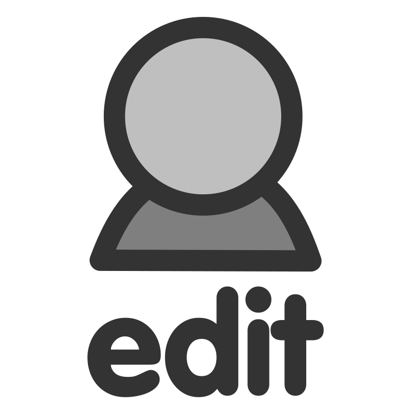 ftedit user by dannya - Originally uploaded by Danny Allen for OCAL 0.18 this icon is part of the flat theme
