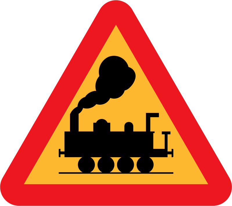 train roadsign by ryanlerch
