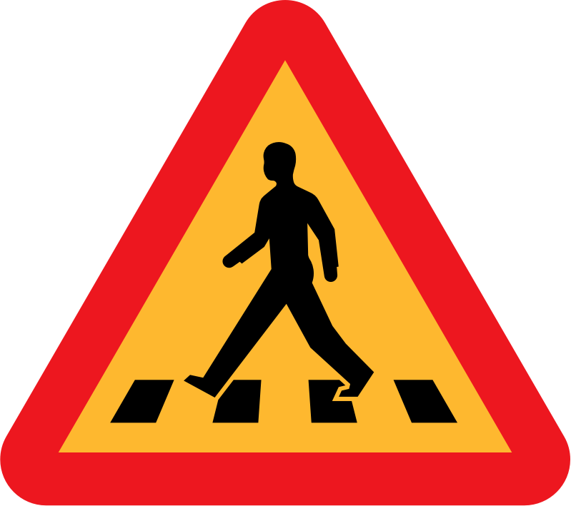 pedestrian crossing sign by ryanlerch - A sign depicting a pedestrian crossing.