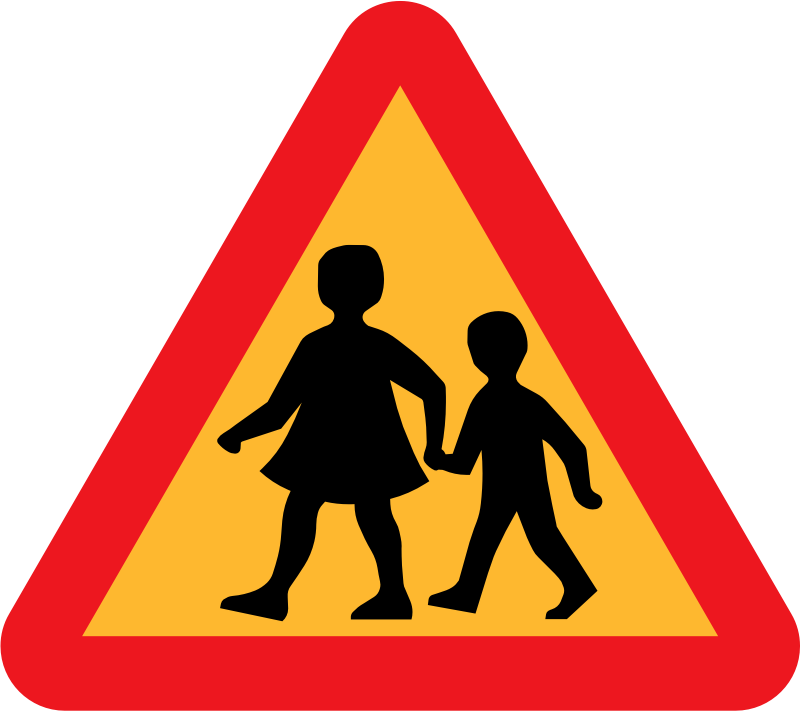 children crossing road sign by ryanlerch