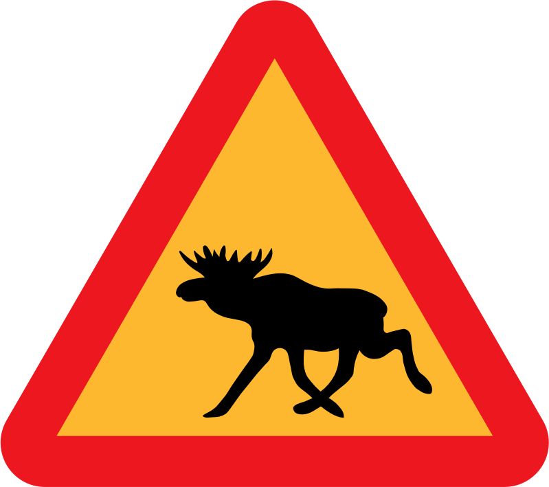 Warning Moose Roadsign by ryanlerch - A sign warning of moose.