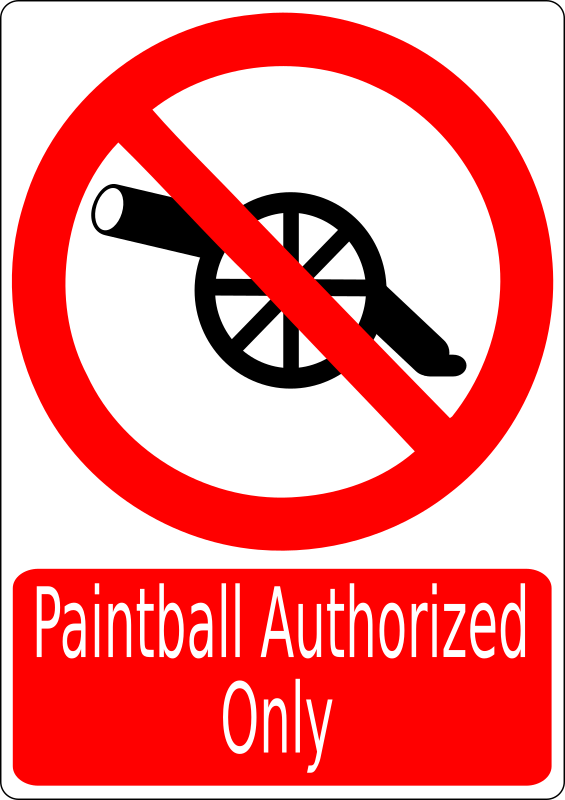 War Prohibited by cibo00 - Paintball Authorized Only