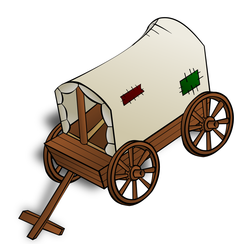 RPG map symbols: a caravan by nicubunu - Part of the fantasy RPG map elements collection (houses and various buildings): a caravan