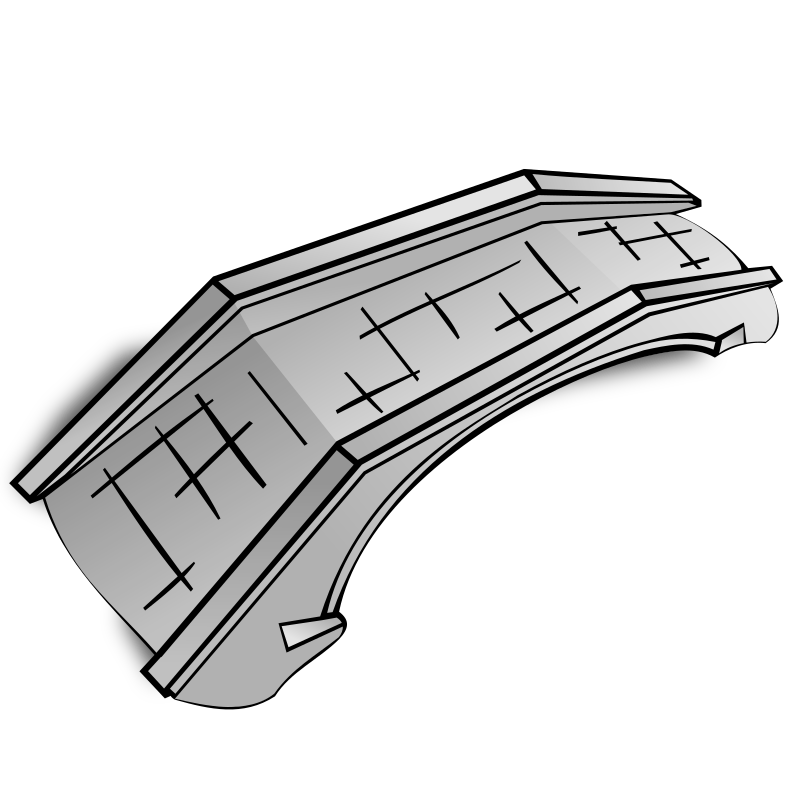 RPG map symbols: stone bridge by nicubunu - Part of the fantasy RPG map elements collection (houses and various buildings): a stone bridge