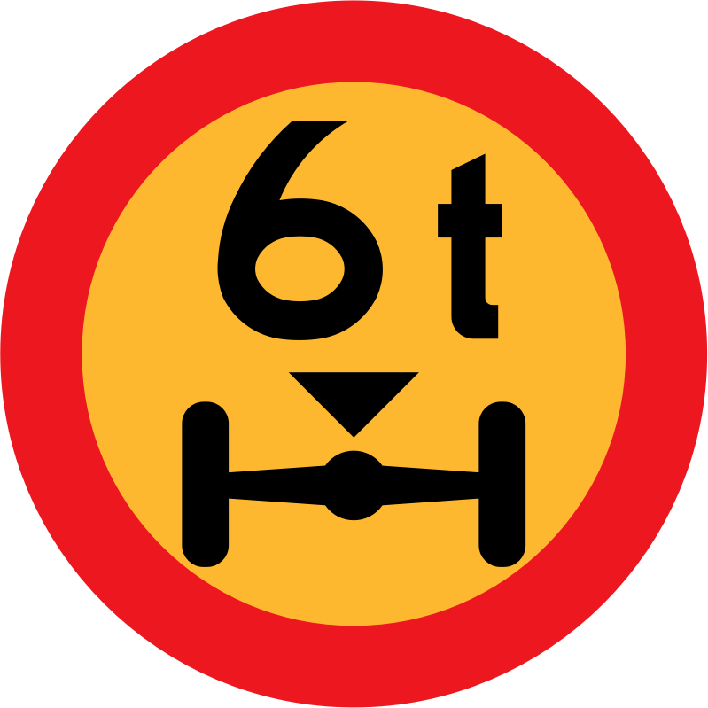 6t wheelbase sign by ryanlerch - Swedish Road Signs Collection on Wikicommons - 