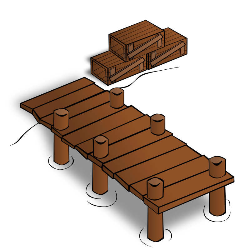 RPG map symbols: Docks by nicubunu - Part of the fantasy RPG map elements collection (houses and various buildings): docks