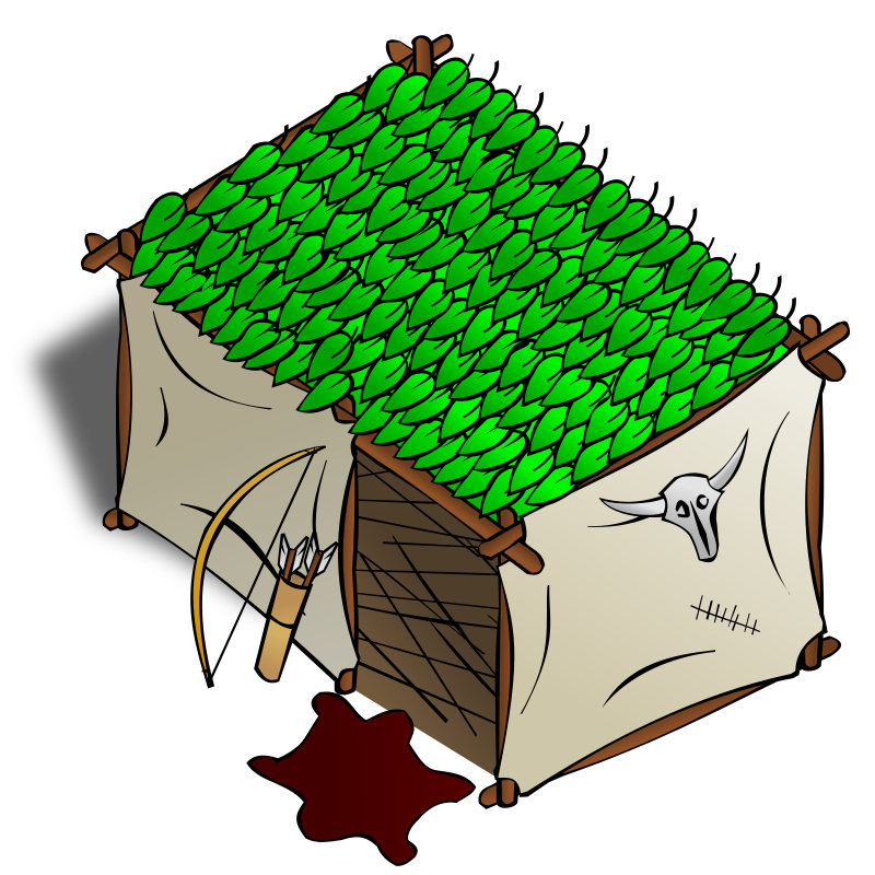 RPG map symbols: Hunter by nicubunu - Part of the fantasy RPG map elements collection (houses and various buildings): a hunter house