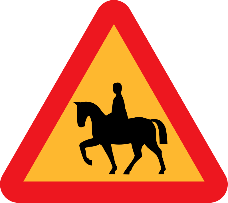 Horserider roadsign by ryanlerch