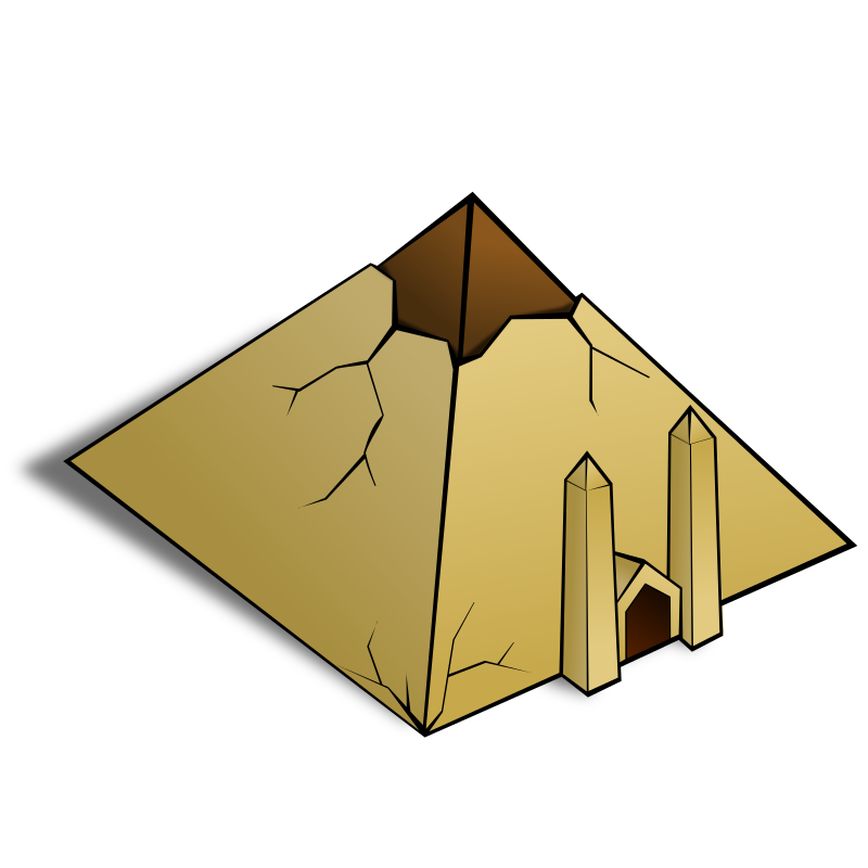 RPG map symbols: Pyramid by nicubunu - Part of the fantasy RPG map elements collection (houses and various buildings): a pyramid