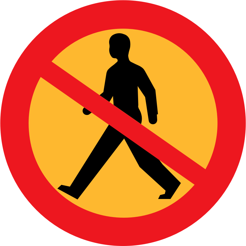 No entry sign with a man by ryanlerch - A sign depicting that people are not allowed.