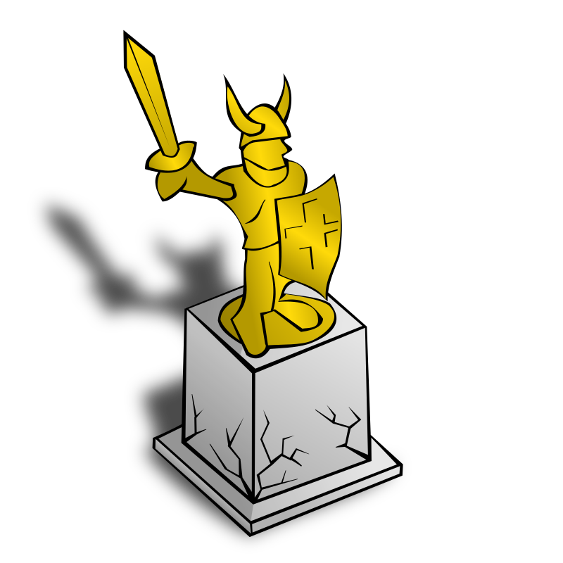 RPG map symbols: Statue by nicubunu - Part of the fantasy RPG map elements collection (houses and various buildings): a statue
