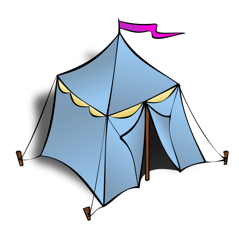 RPG map symbols: Tent by nicubunu - Part of the fantasy RPG map elements collection (houses and various buildings): a tent