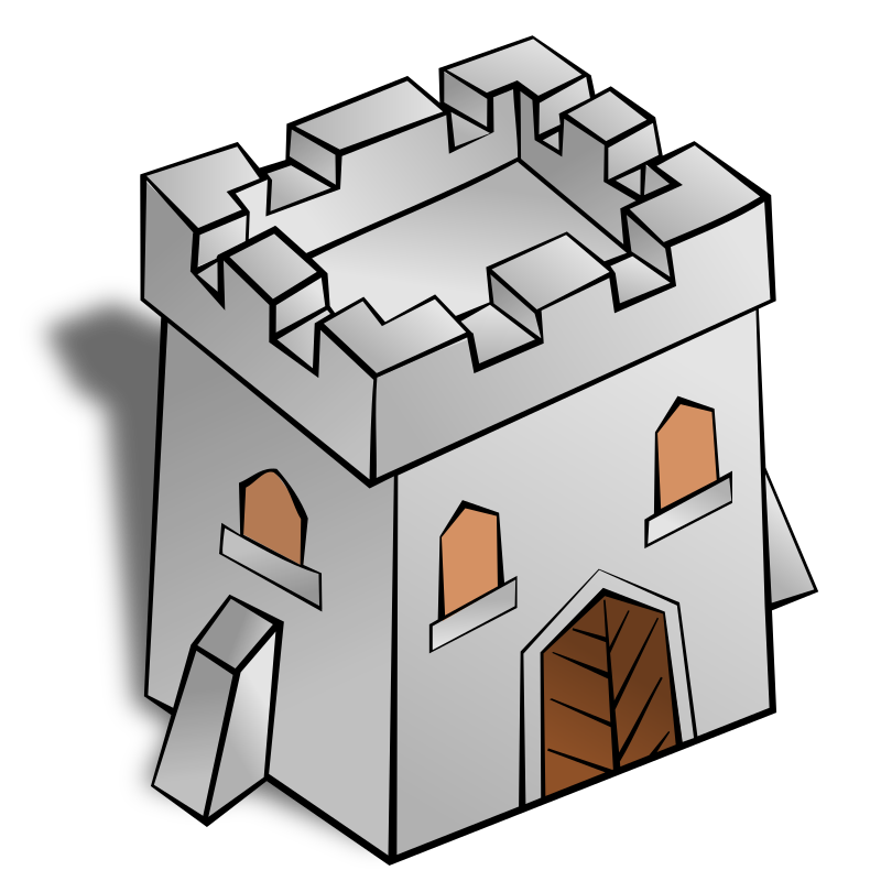 RPG map symbols: Tower Square by nicubunu - Part of the fantasy RPG map elements collection (houses and various buildings): a squared tower
