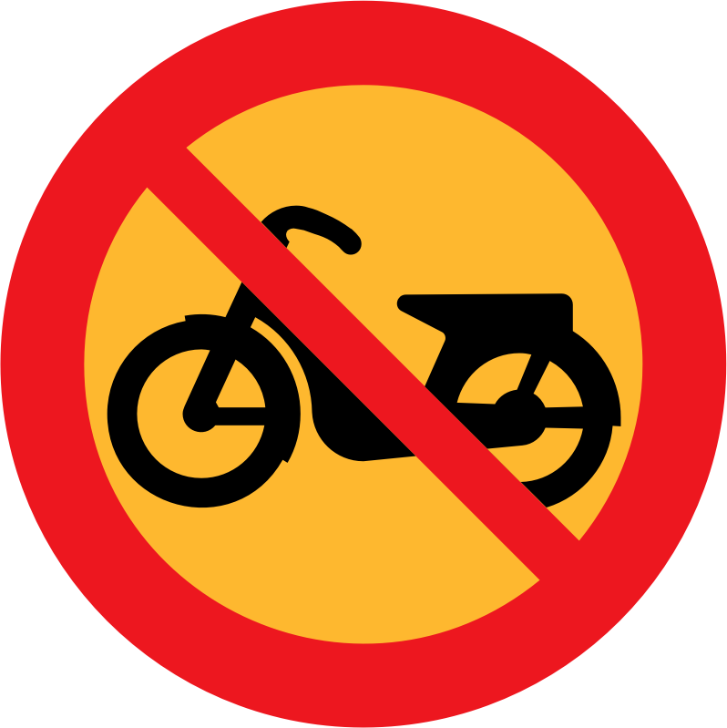 No Mopeds Sign by ryanlerch