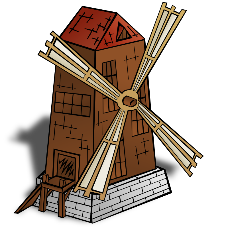 RPG map symbols: Windmill by nicubunu - Part of the fantasy RPG map elements collection (houses and various buildings): a wind mill