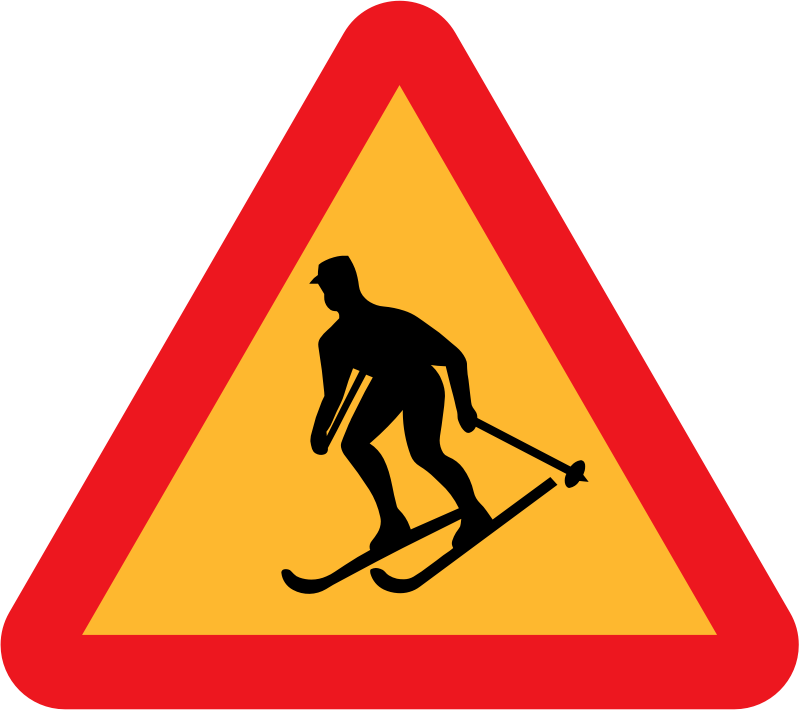 Skiier Sign by ryanlerch - A sign depicting a skiier