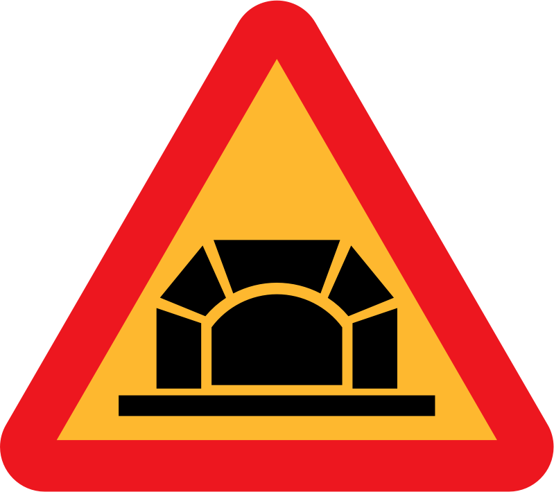 Tunnel Roadsign by ryanlerch - A sign depicting a road tunnel