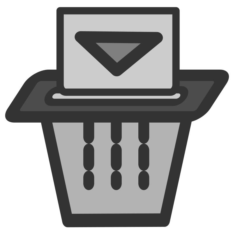 ftshredder by dannya - Originally uploaded by Danny Allen for OCAL 0.18 this icon is part of the flat theme