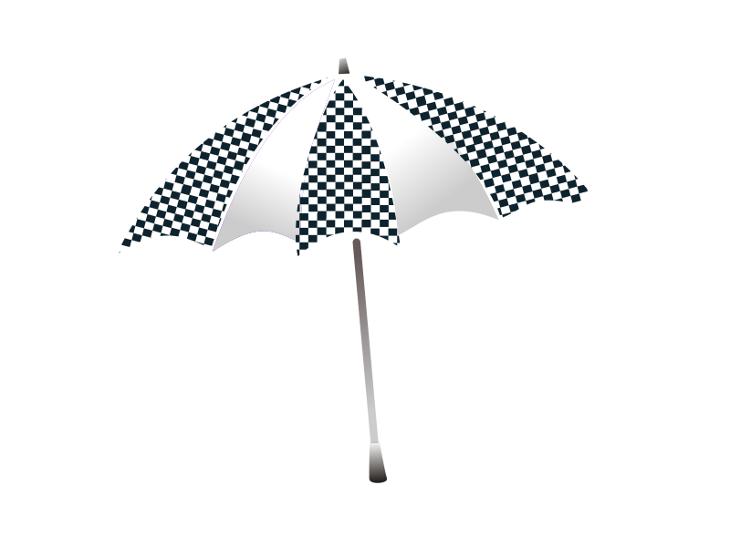 chequered umbrella by netalloy - motorsports clip art by NetAlloy
