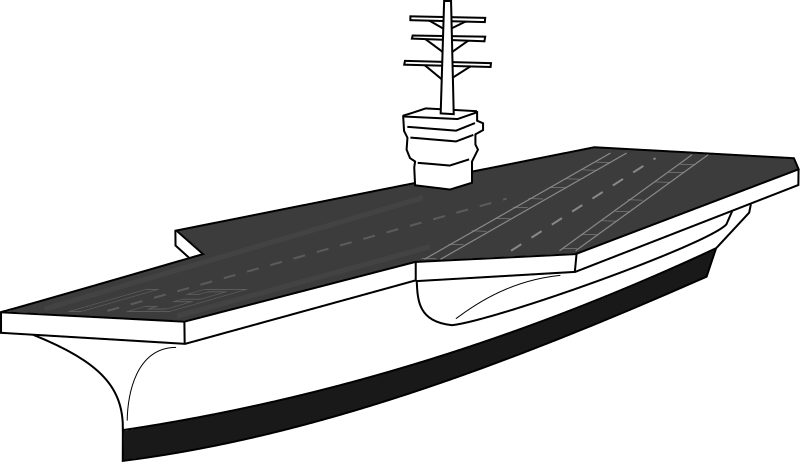 Aircraft carrier by J_Alves - An aircraft carrier sketch, drawn in Inkscape.