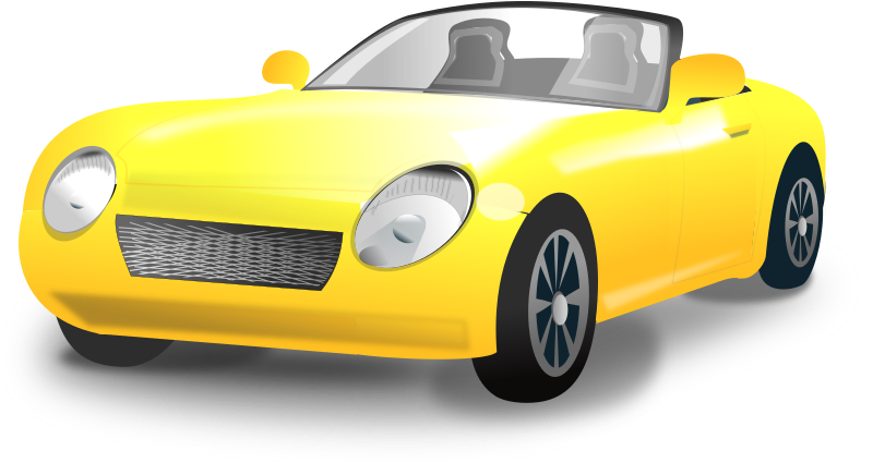 Yellow Convertible sports car by netalloy