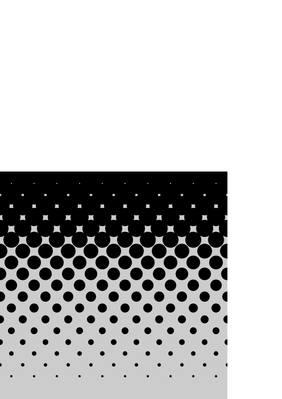 square gradient halftone by tegarmaji - A Square of black and white gradient halftone in a vertical orientation.