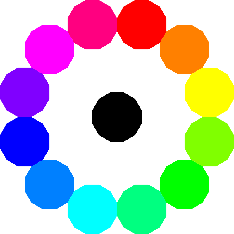 colorful dodecagons by 10binary
