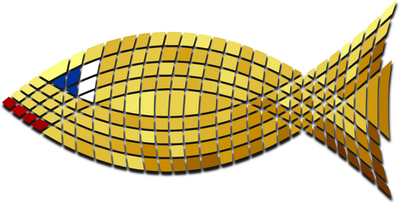 Tiled Gold Fish by Merlin2525 - Tiled Gold Fish. Drawn with Inkscape.