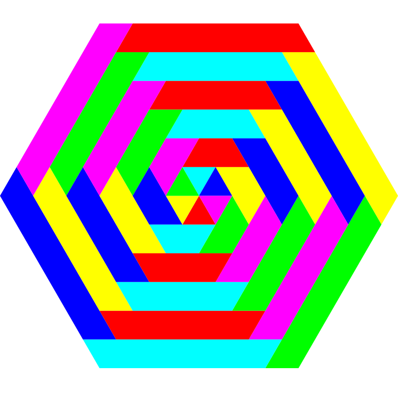hexagon trapezoid colors by 10binary - This took a lot of work but it's one of my best!