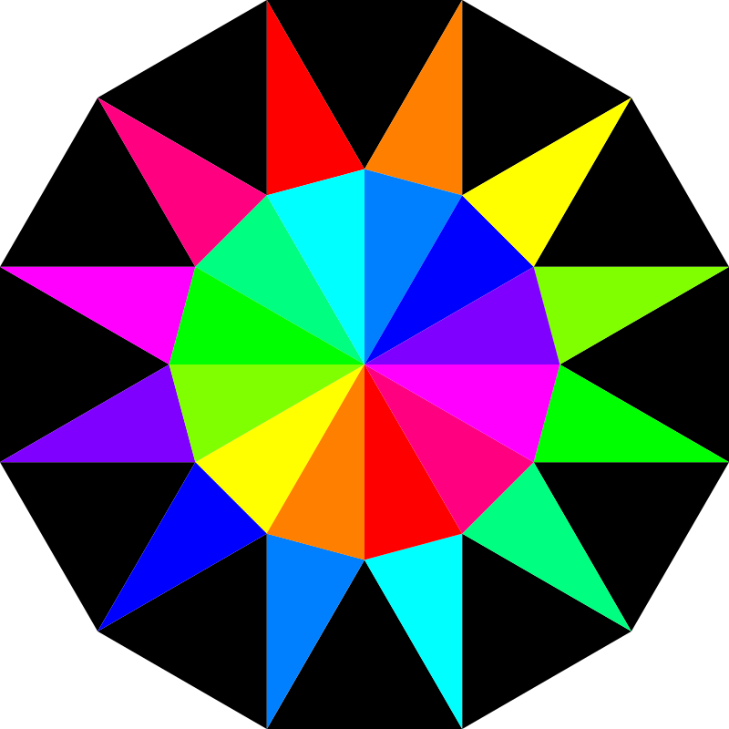 rainbow dodecagram by 10binary