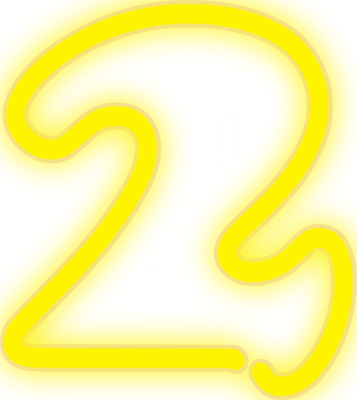 Neon Numerals-2 2 by rwwgub - neon tube