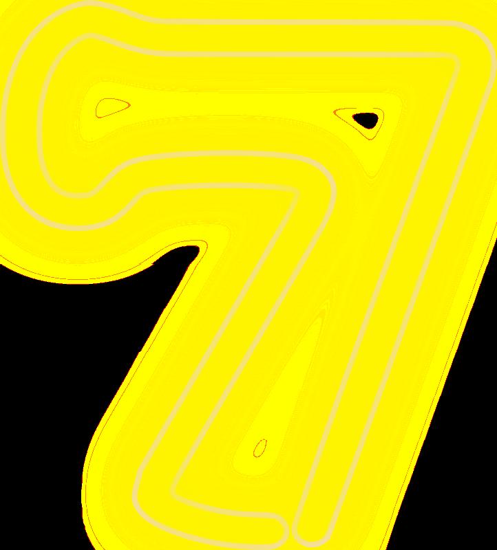 Clipart Neon Numerals 7 2