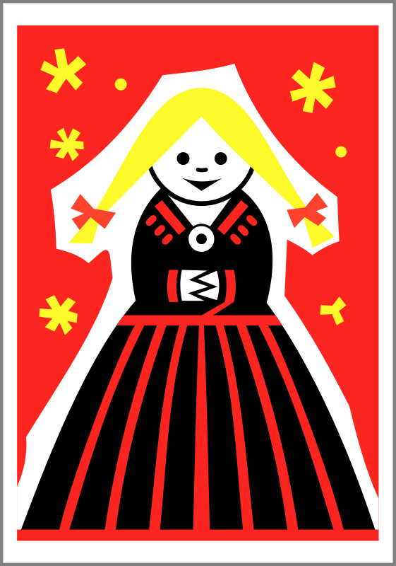 Matchbox label (girl) by Rones by rones - Soviet Estonian matchbox label from Viljandi (Eesti)