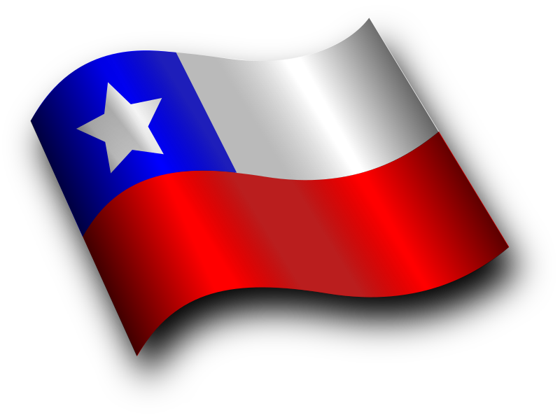 Chilean Flag 3 by Merlin2525 - A Chilean Flag with Shading effect using layers. Drawn with Inkscape.