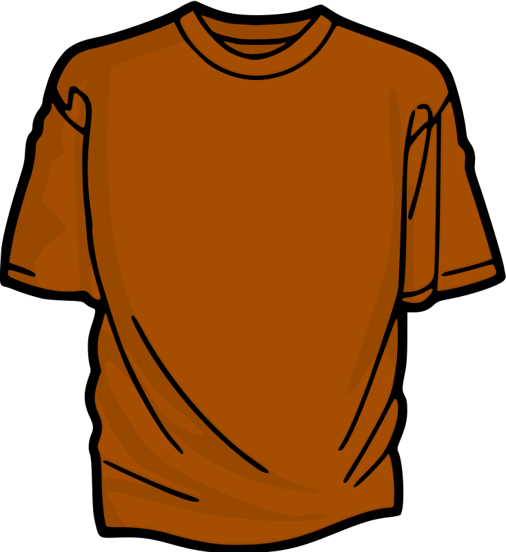 Orange T-Shirt by kuba - A colored T-shirt.
