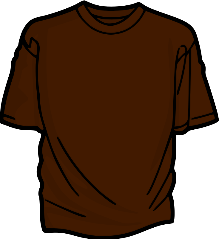 Brown T-Shirt by kuba - A colored T-shirt.