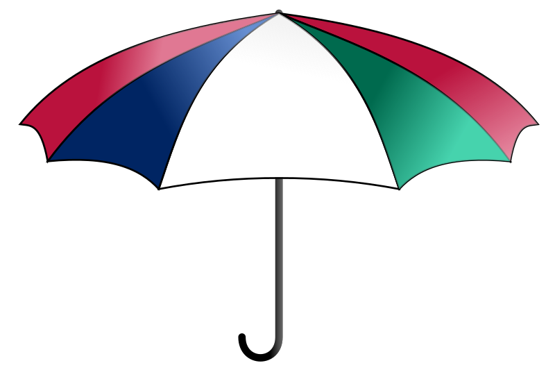 Umbrella, colorful by bnielsen