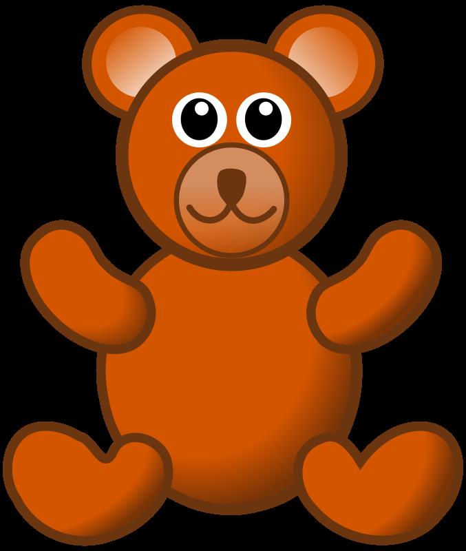 Clipart Brown Teddy