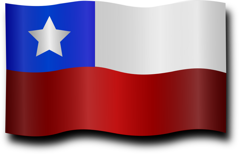 Chilean Flag 4 by Merlin2525 - A waving Chilean Flag 4 with highlights. Drawn with Inkscape.