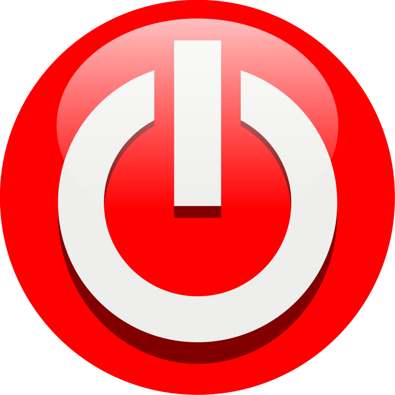 Power off icon by chovynz - A 10x10 icon for power off coloured in red