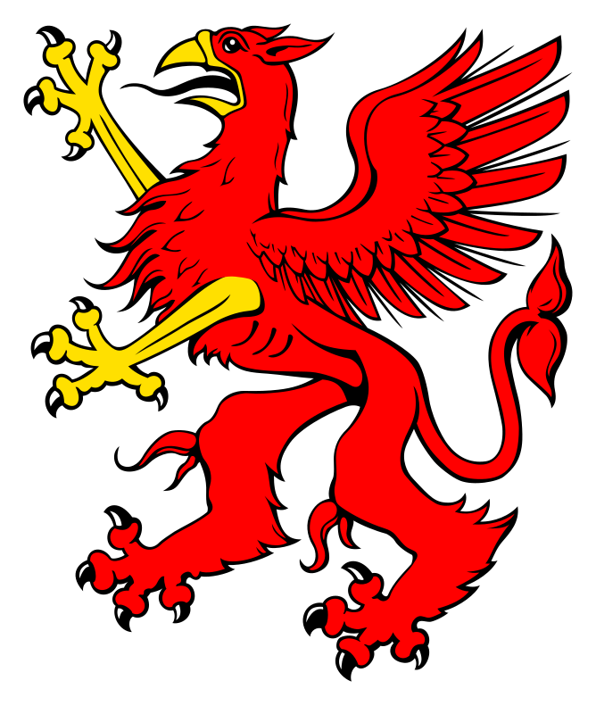 Red griffin by liftarn - A red griffin based on http://commons.wikimedia.org/wiki/Image:Kleines_Stadtwappen_Ueckerm%C3%BCnde.svg