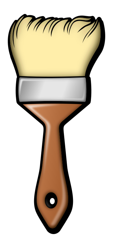 Brush by jonata - A colored paint brush.