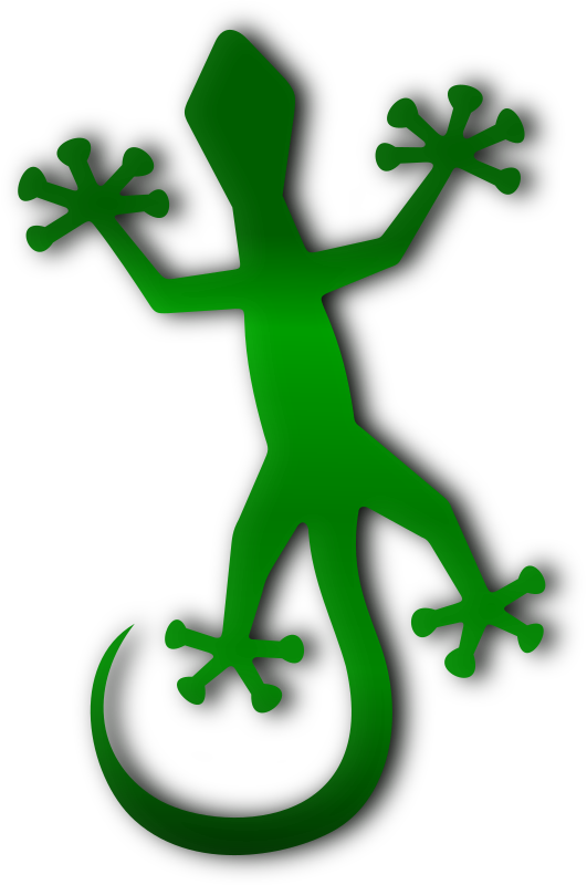 Gecko by Merlin2525 - A Green Gecko drawn with Inkscape.