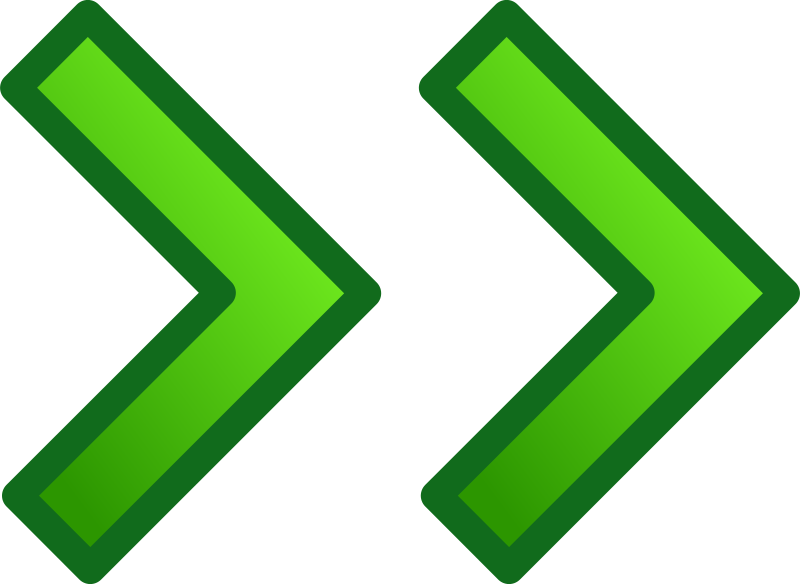 green double arrows set by pitr - It's not exactly a remix, just putting the icons into separate files