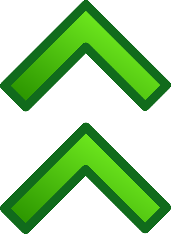 green double arrows set by pitr
