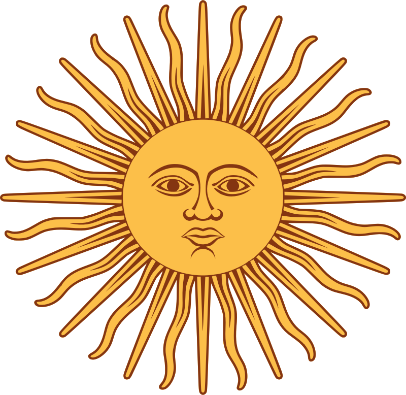 Sol de Mayo-Bandera de Argentina by liftarn - The sun from the flag of Argentina.