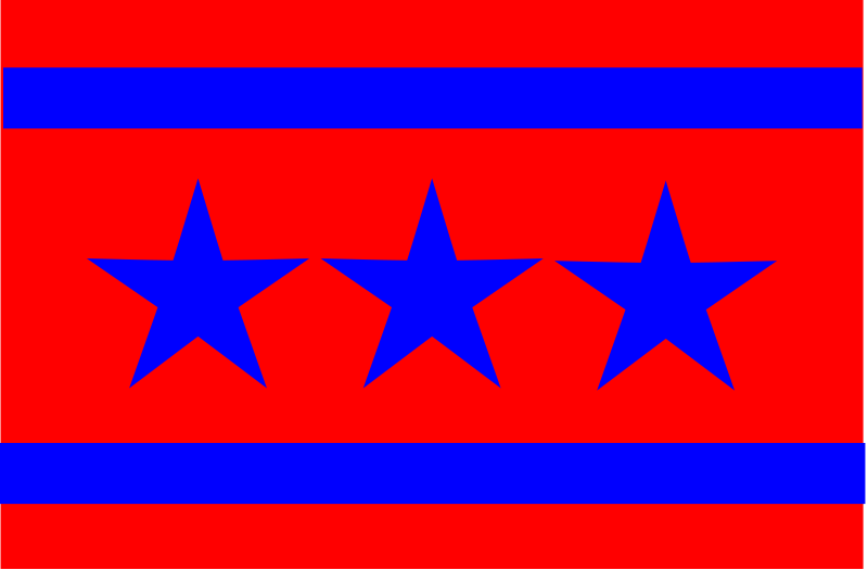 3 Star Flag by lordoftheloch - An imaginary flag with three stars