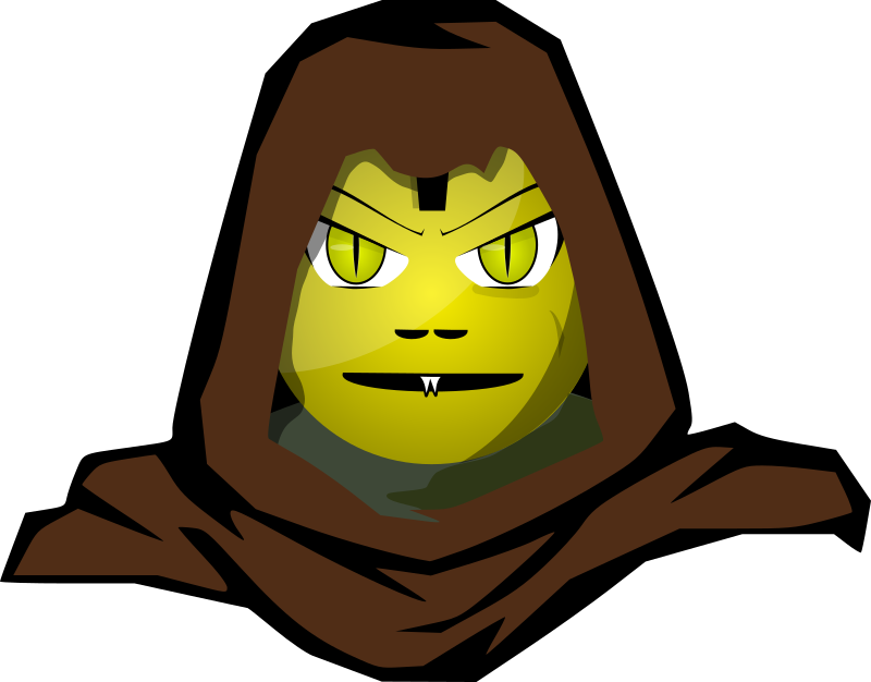 Hooded Cartoon Character by lordoftheloch - A derivative work from clipart here.
