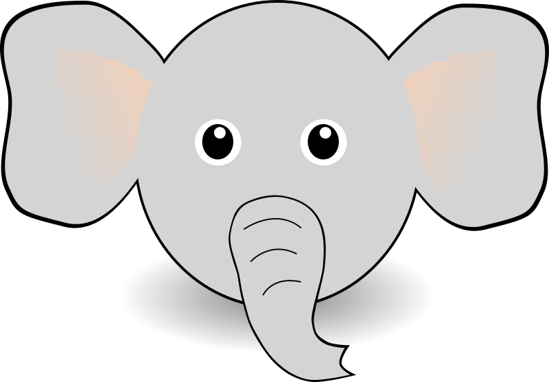Funny Elephant Face Cartoon by palomaironique